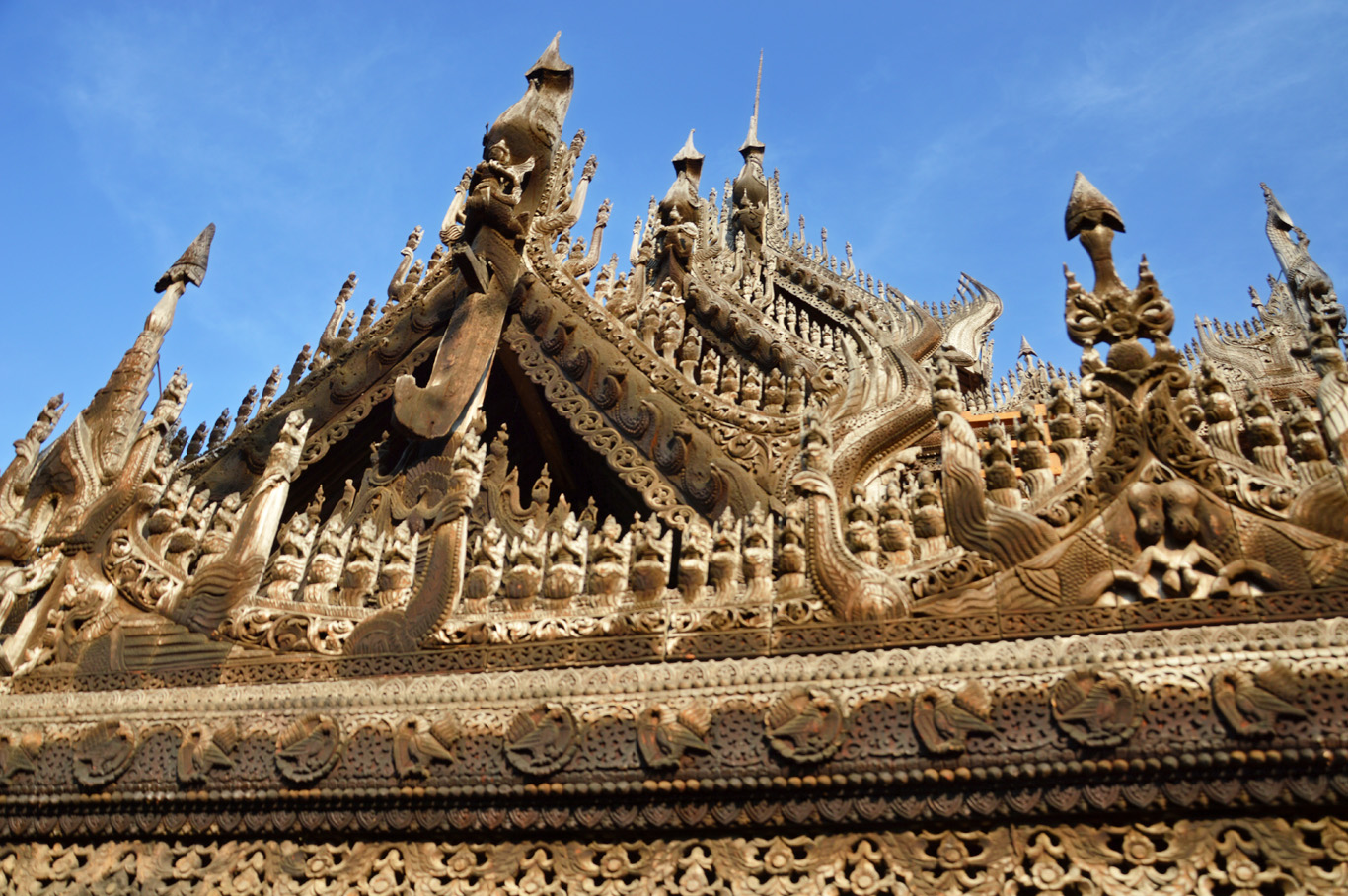 Details in the roof of Shwenandaw Monastery