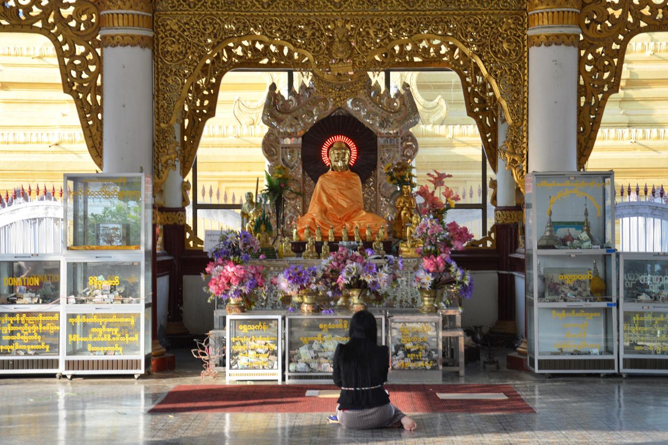 The main shrine at Kuthodaw Temple