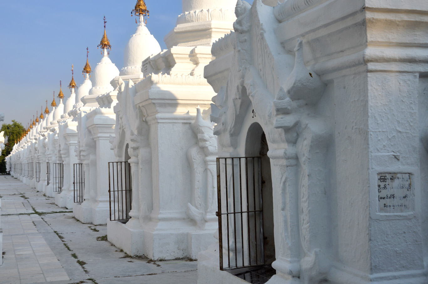 Stupas housing the inscription plates - the world's largest book