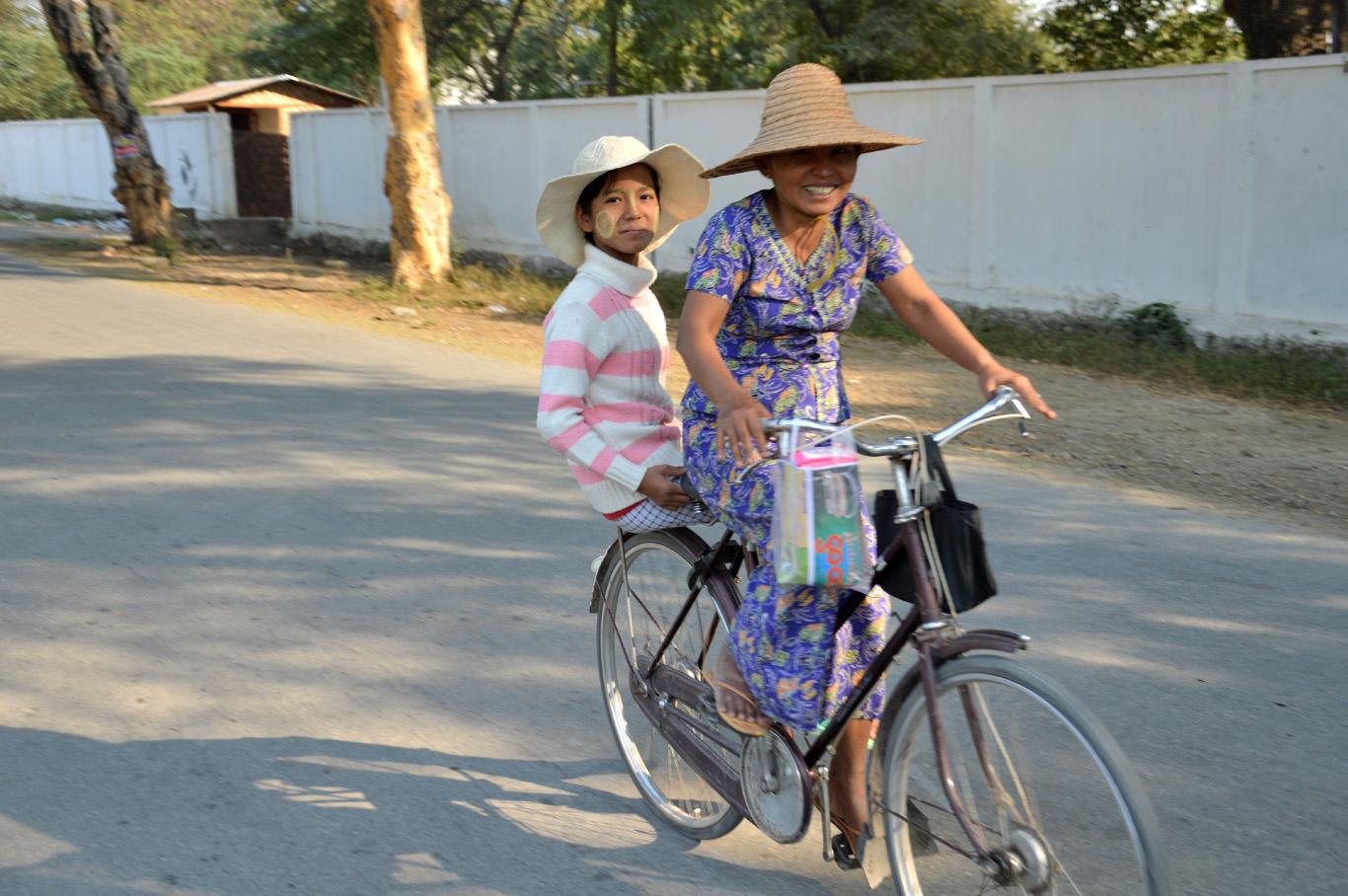 Locals on a bike