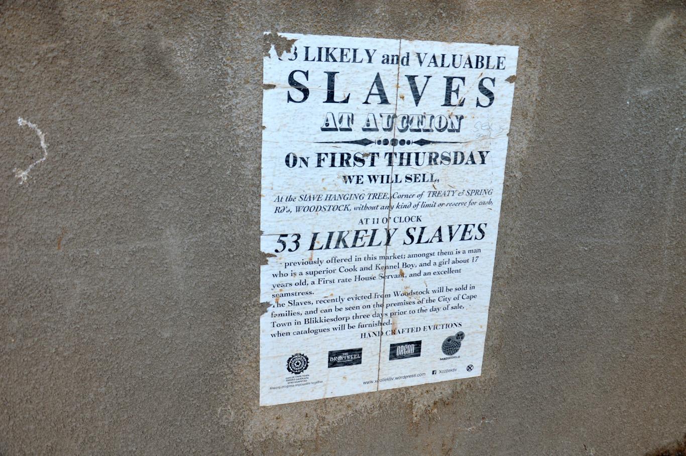 Slave auction poster
