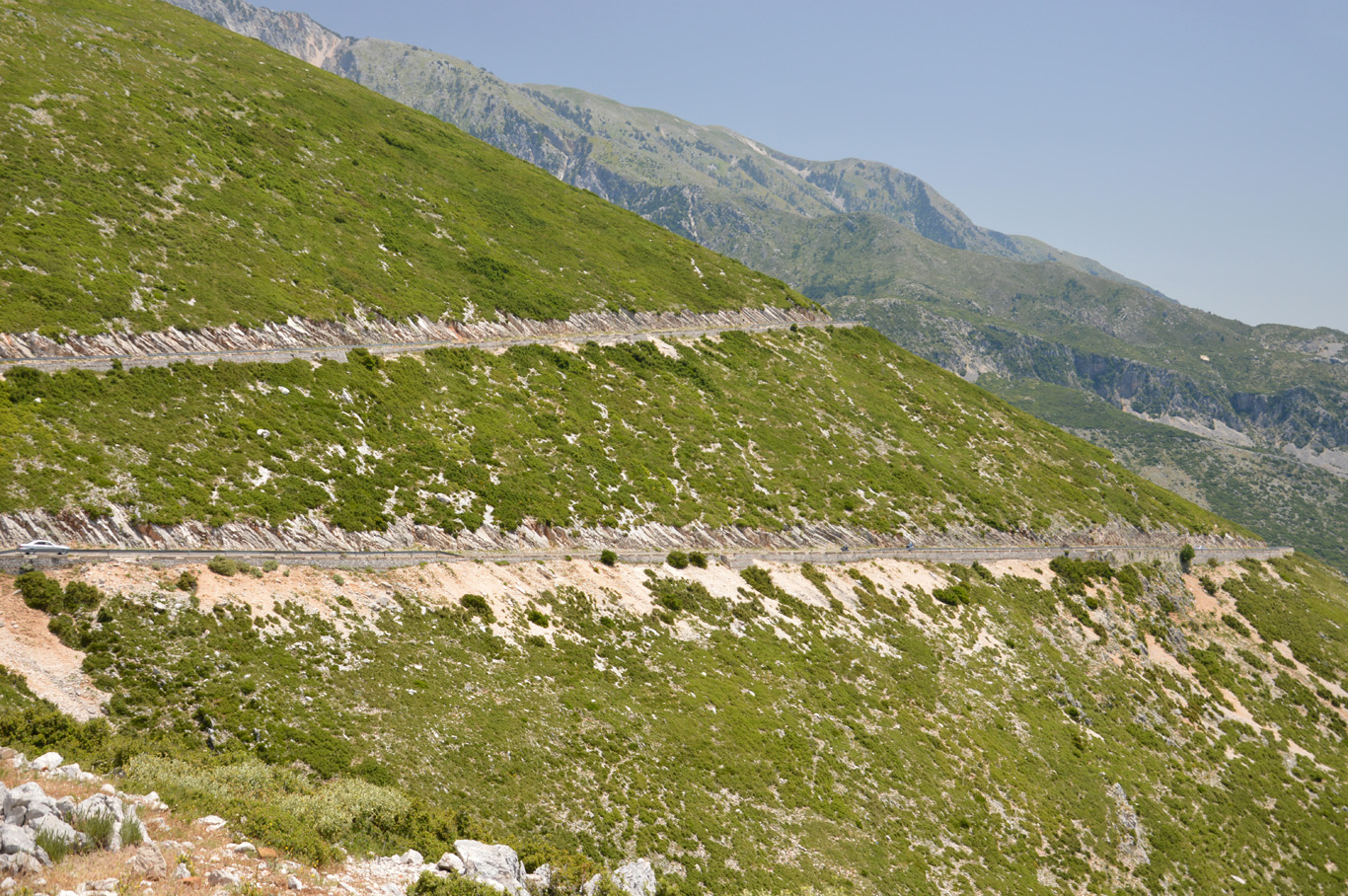 Llogara Pass - road carved into the slope