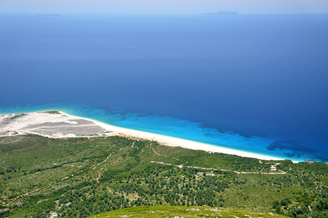 Drymades Beach seen from Llogara
