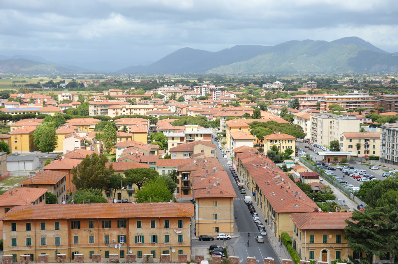 The view of Pisa from the Leaning Tower