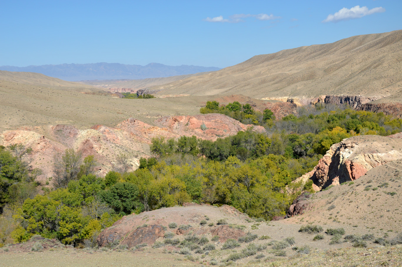 The unimpressive beginning of the canyon