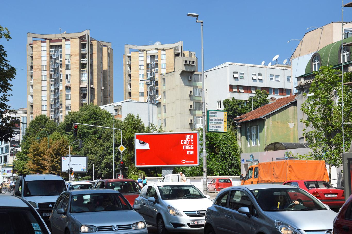 Apartment blocks in Skopje