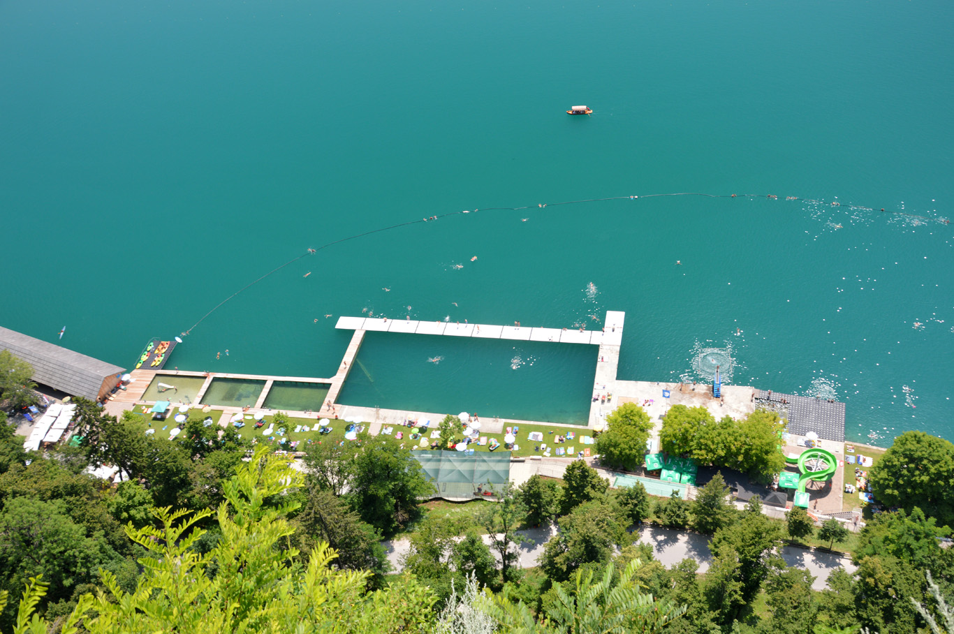 Natural swimming pools in Bled