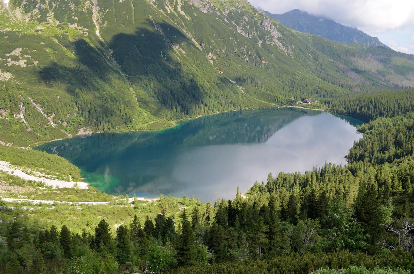 Morskie Oko - view from the trail to Czarny Staw