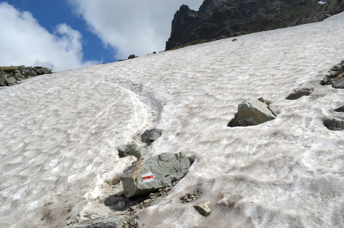 Still lots of snow in places, even though it was the end of June