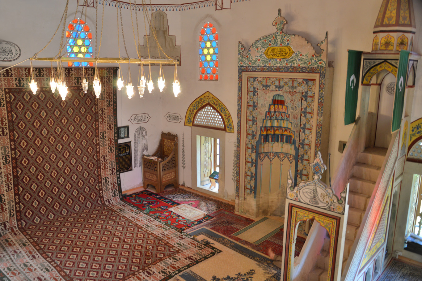 The mosque inside