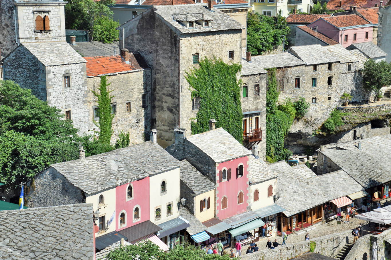 Mostar - view from the mosuqe