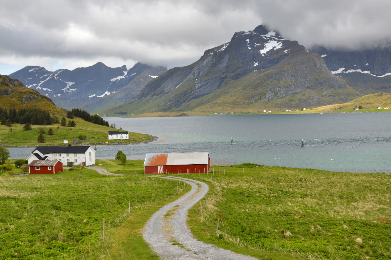Typical countryside in Lofoten