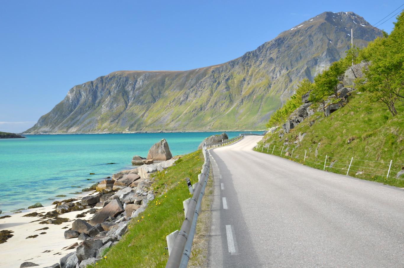 Typical road in Lofoten