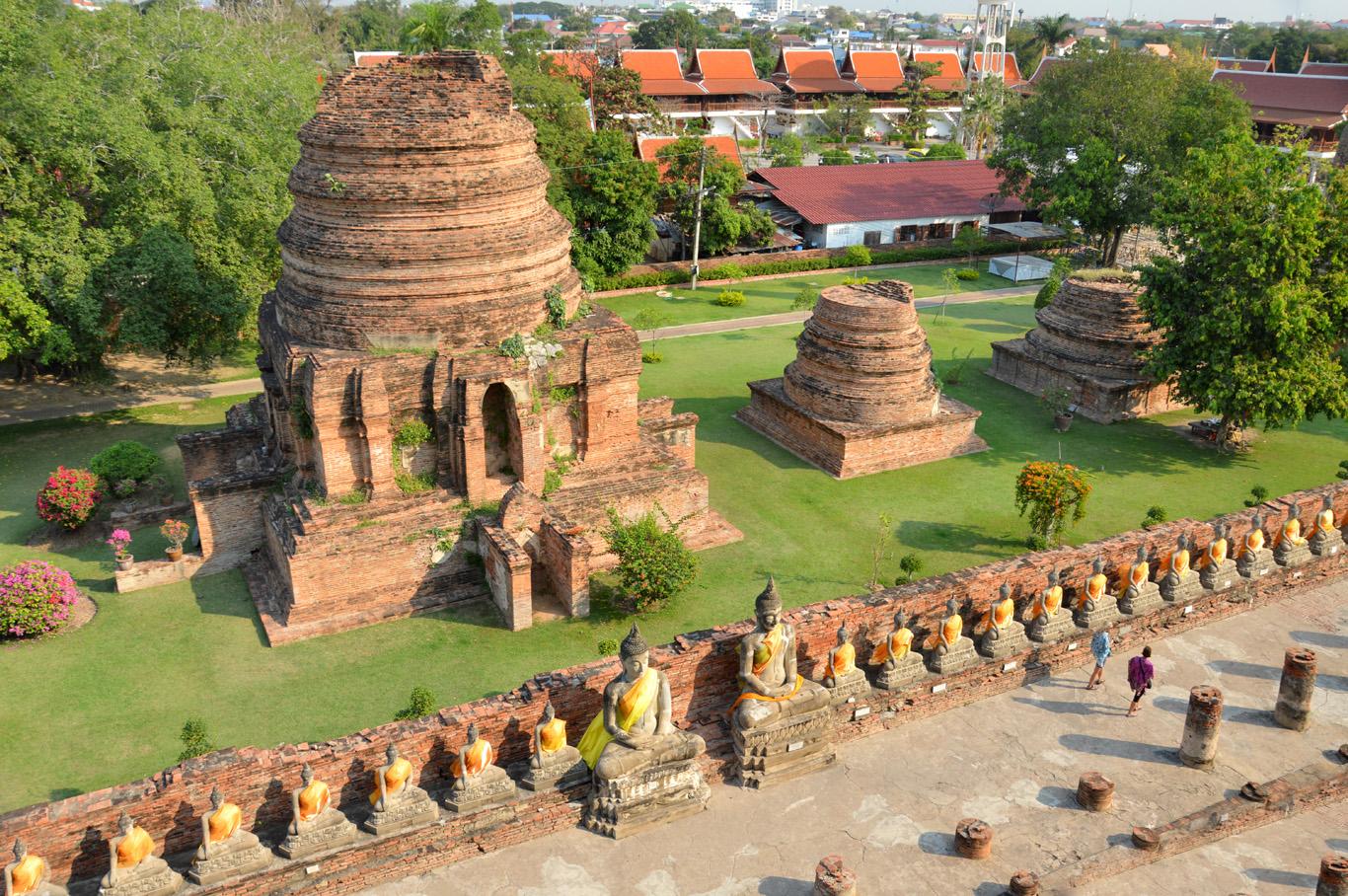 View from Wat Yai Chai Mongkhon