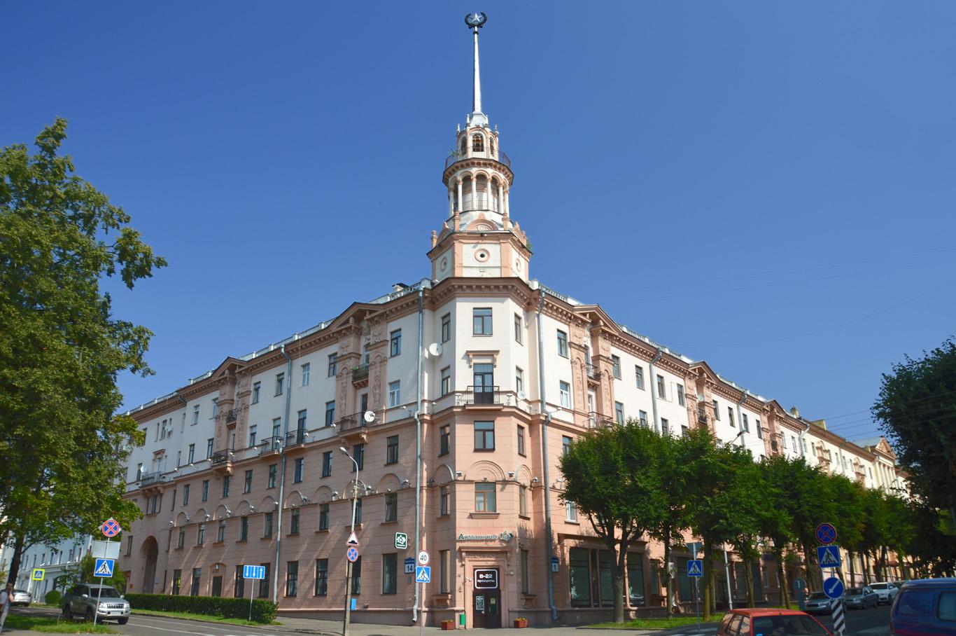 Random building in Minsk