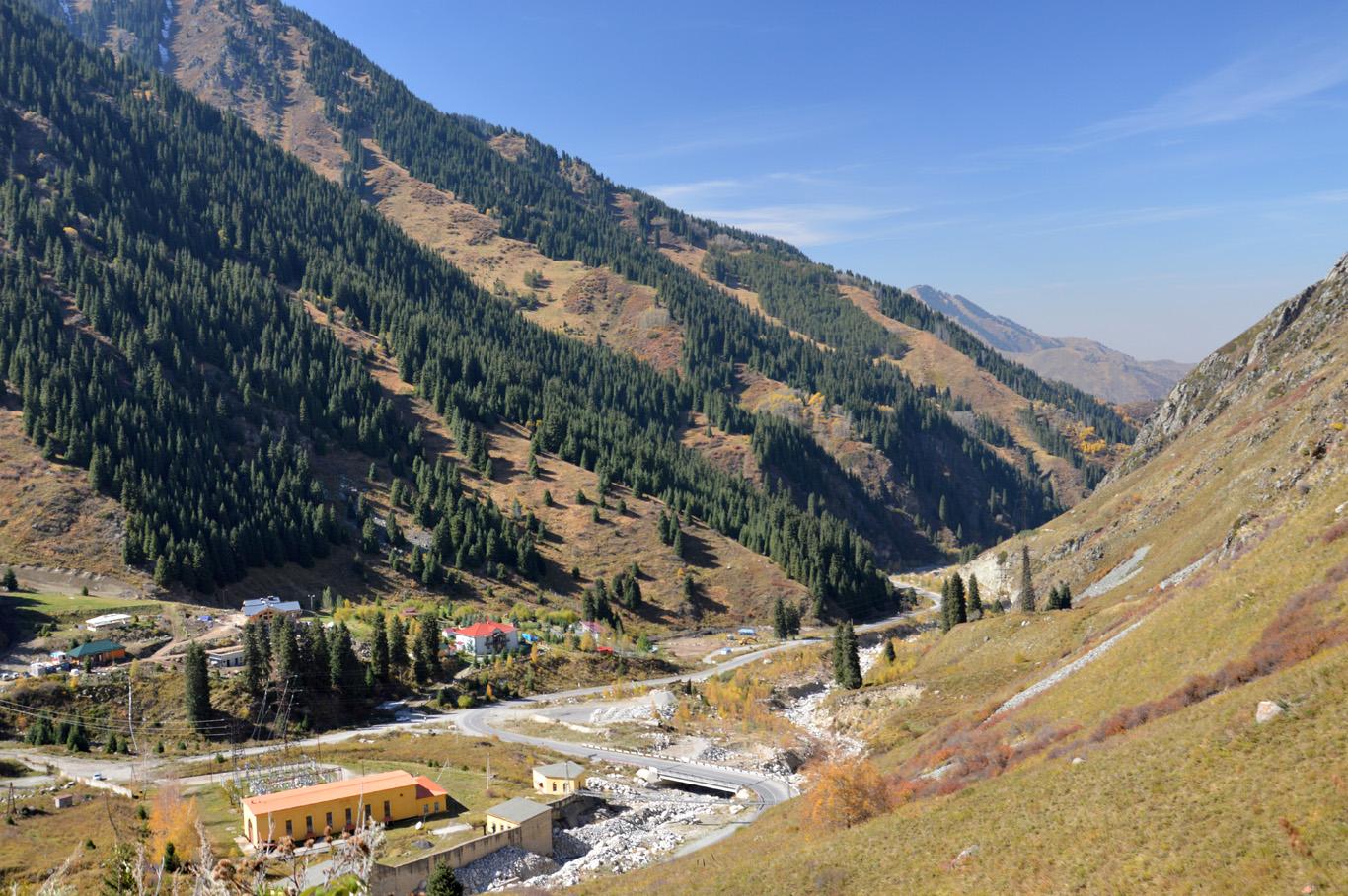 Ile Alatau Mountain range on the way from Almaty