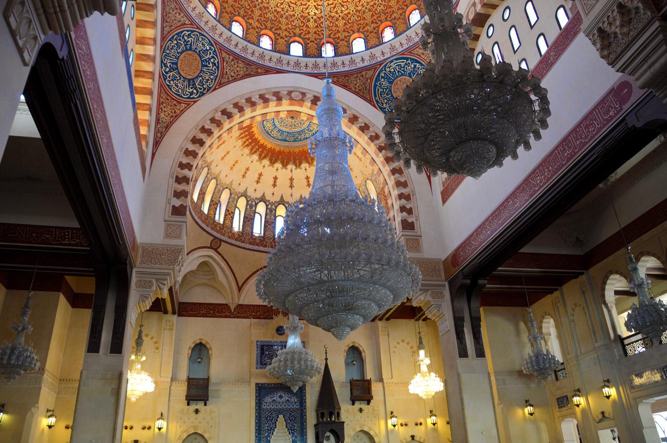 The interior of the Al Amine Mosque