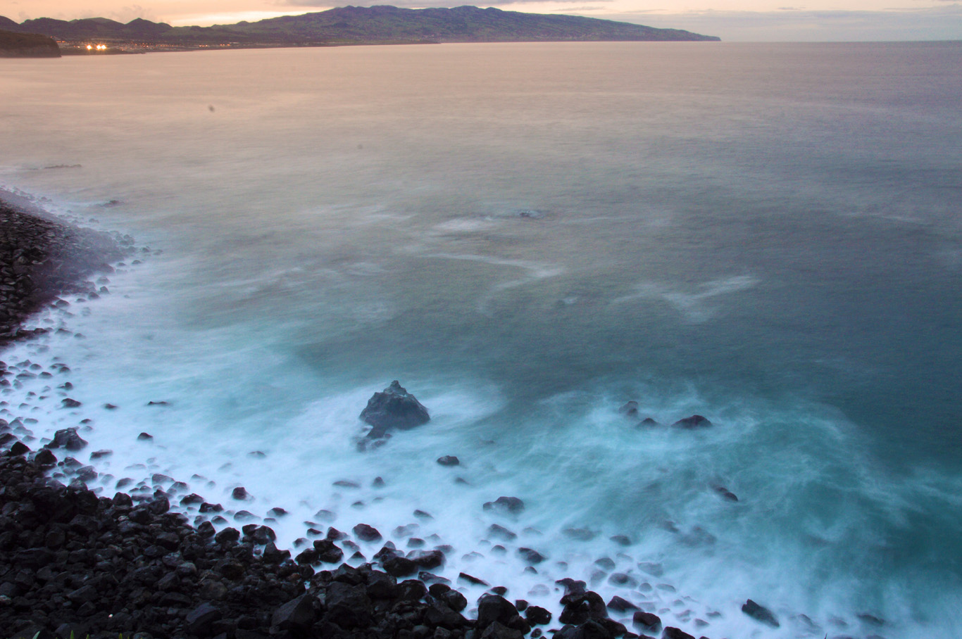 Black volcanic beach at Ribeira Grande