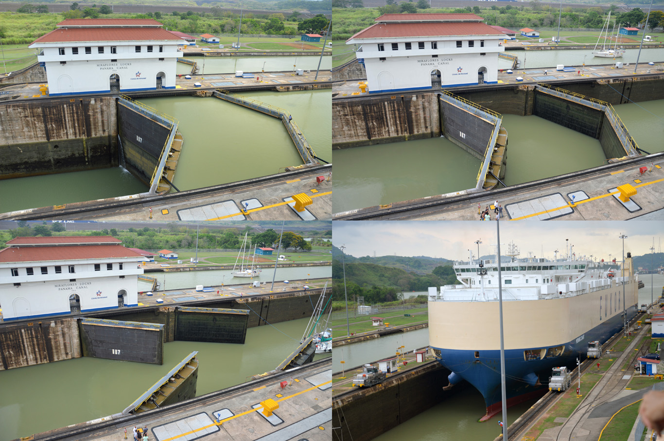 Panama Canal - the level of water changes