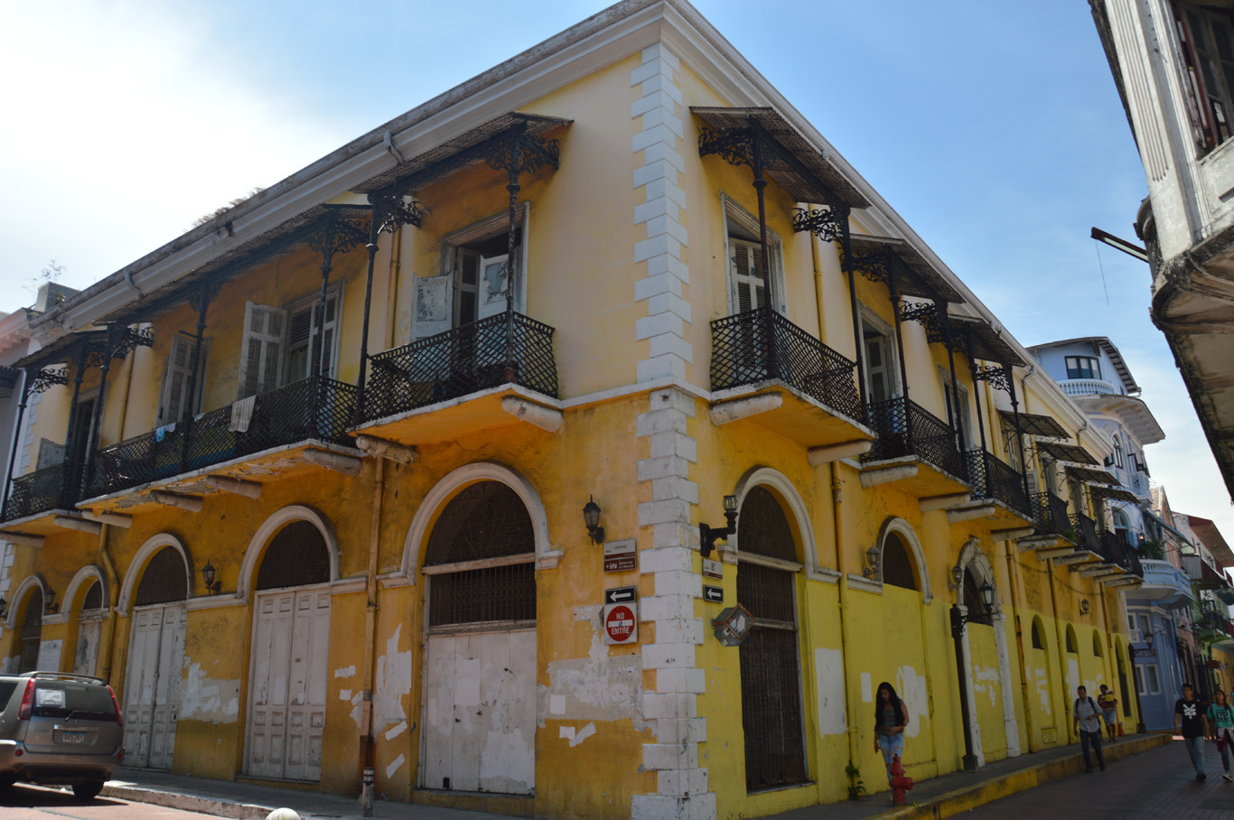One of the old buildings awaiting restoration