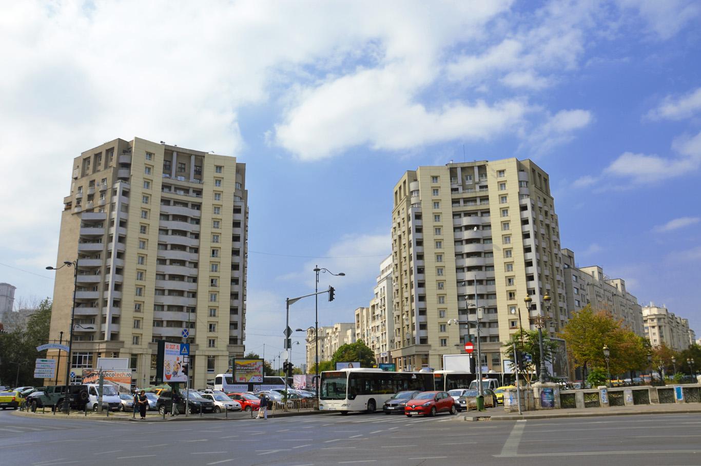 Modern blocks in Bucharest