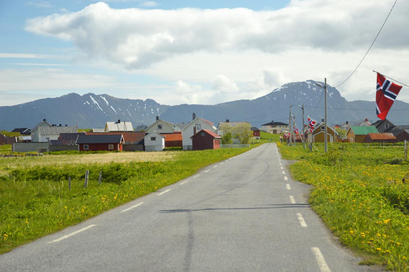 Eggum village