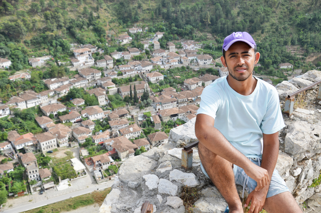 In Berat with the view from the fortess