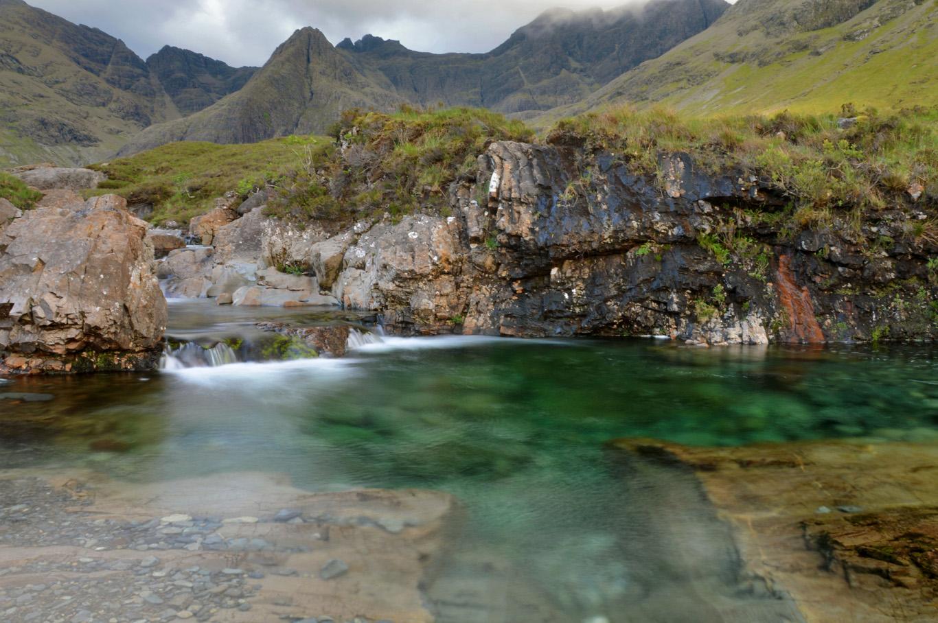 Fairy Pools in Scotland     more info