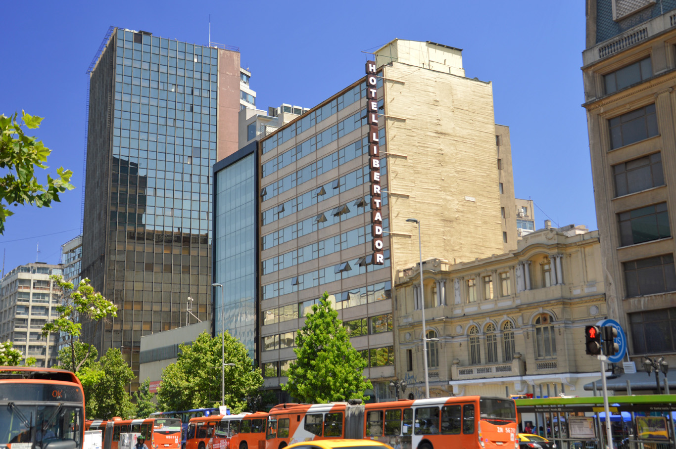 Typical street in Santiago