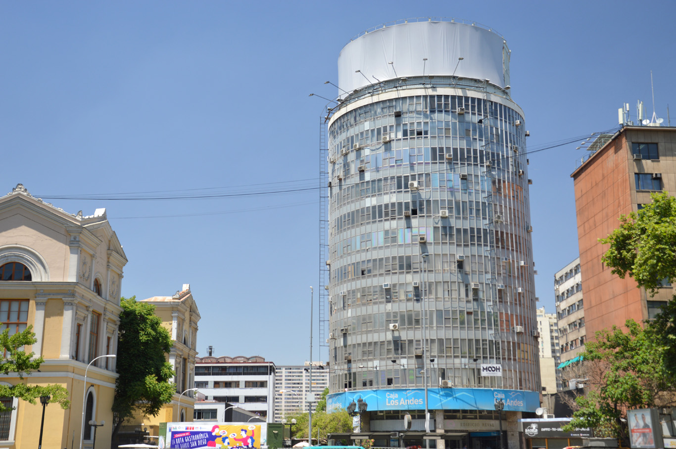 Santiago is full of such mix of architecture