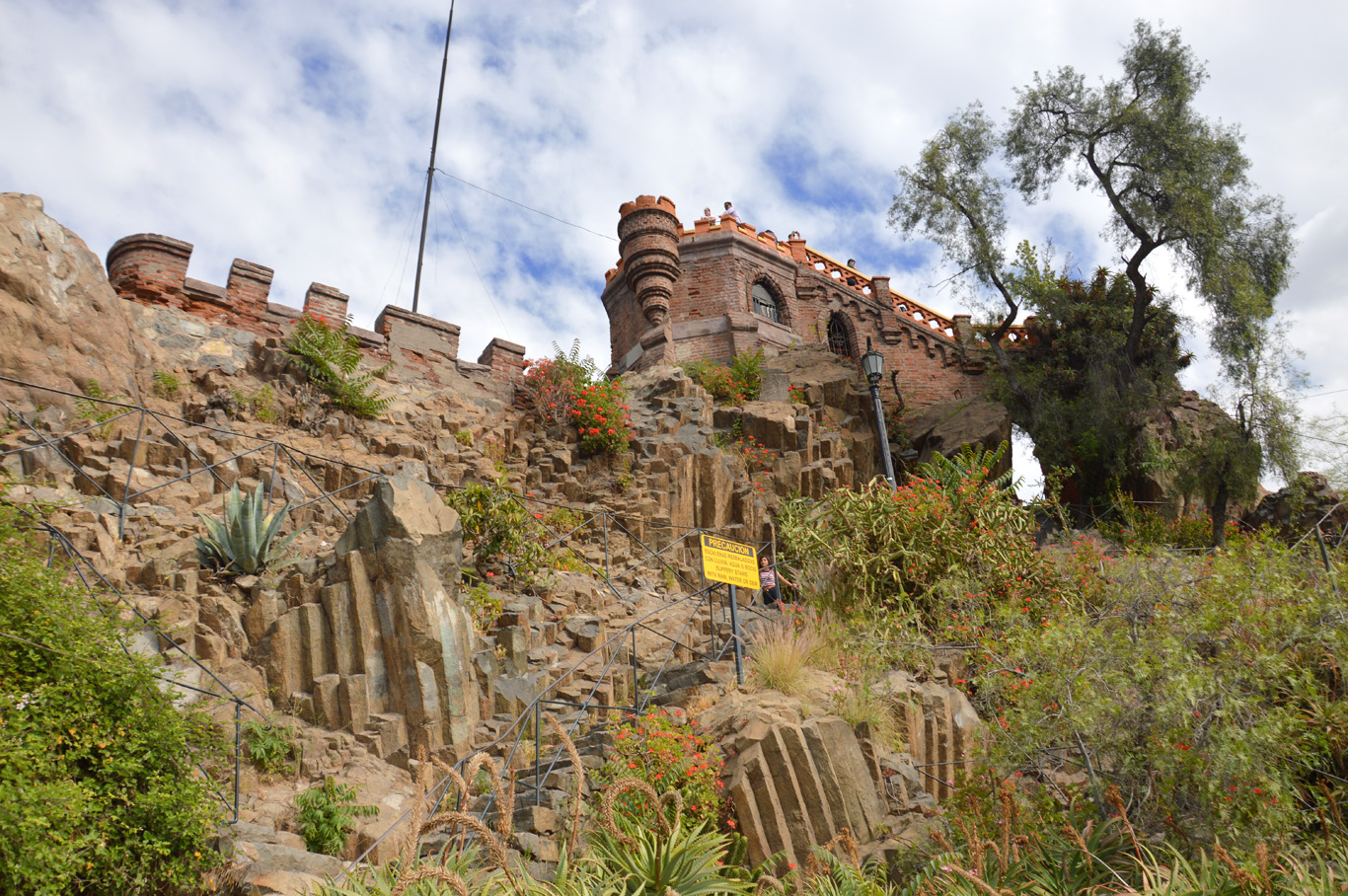 The remnants of the fort on Santa Lucia Hill