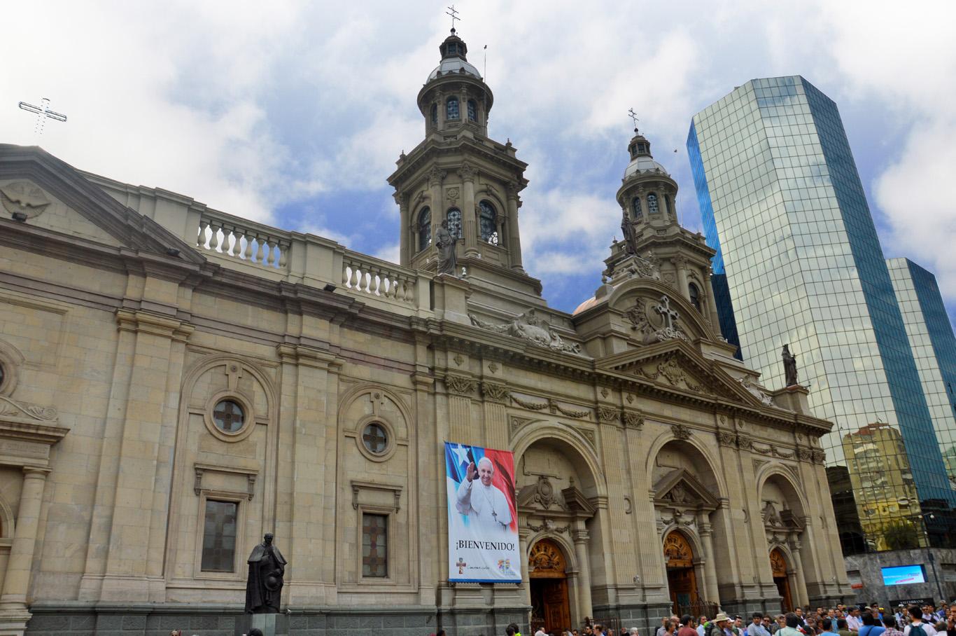 Metropolitan Cathedral in Plaza de Armas