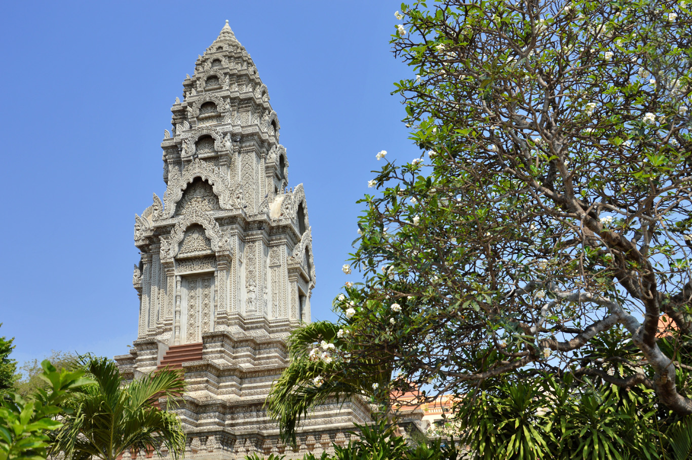 One of the stupas in the temple area
