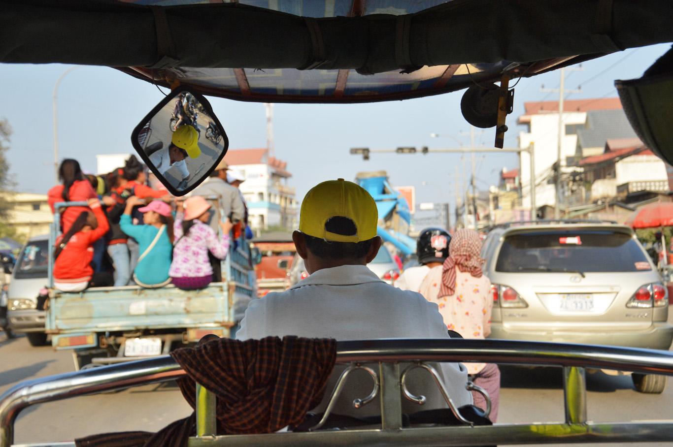 Tuk tuk ride in Phnom Penh