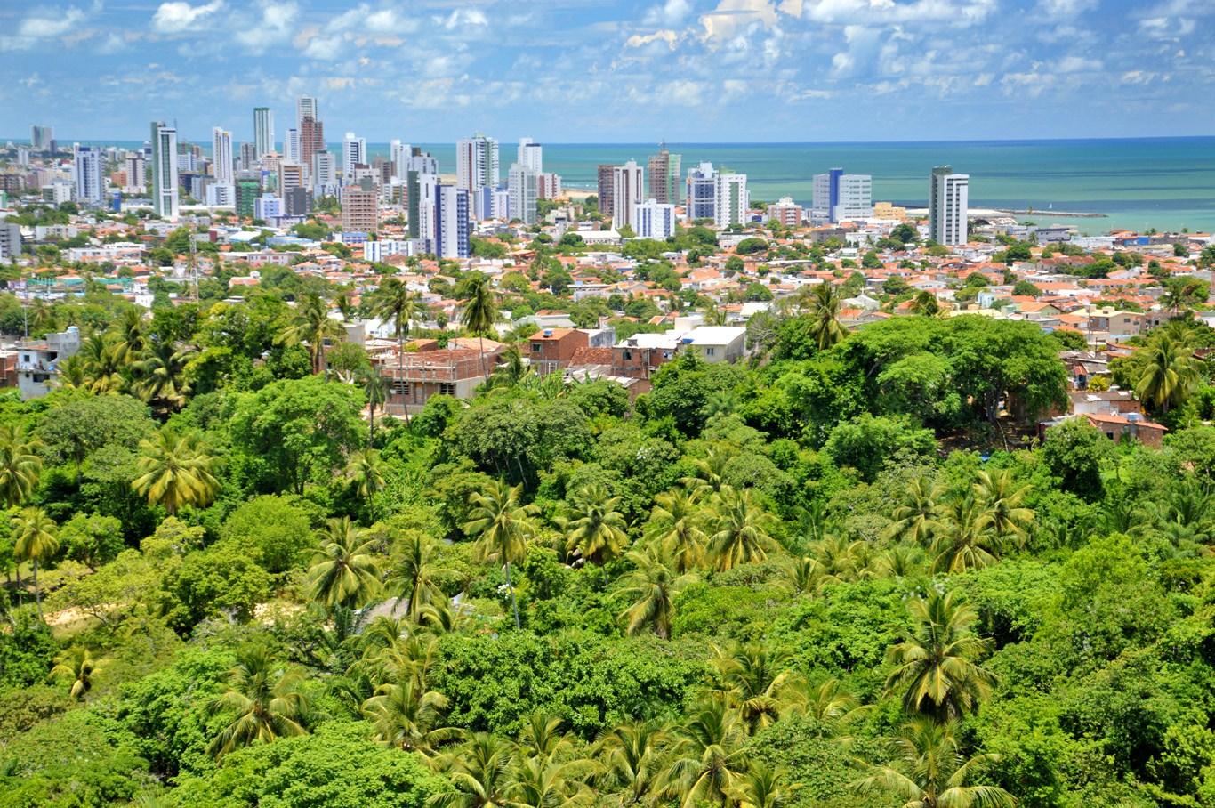 View of modern part of Olinda