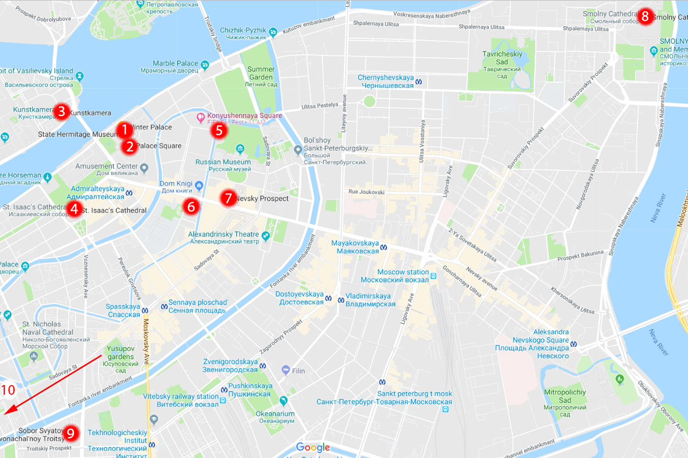 Map russia st petersburg Where is