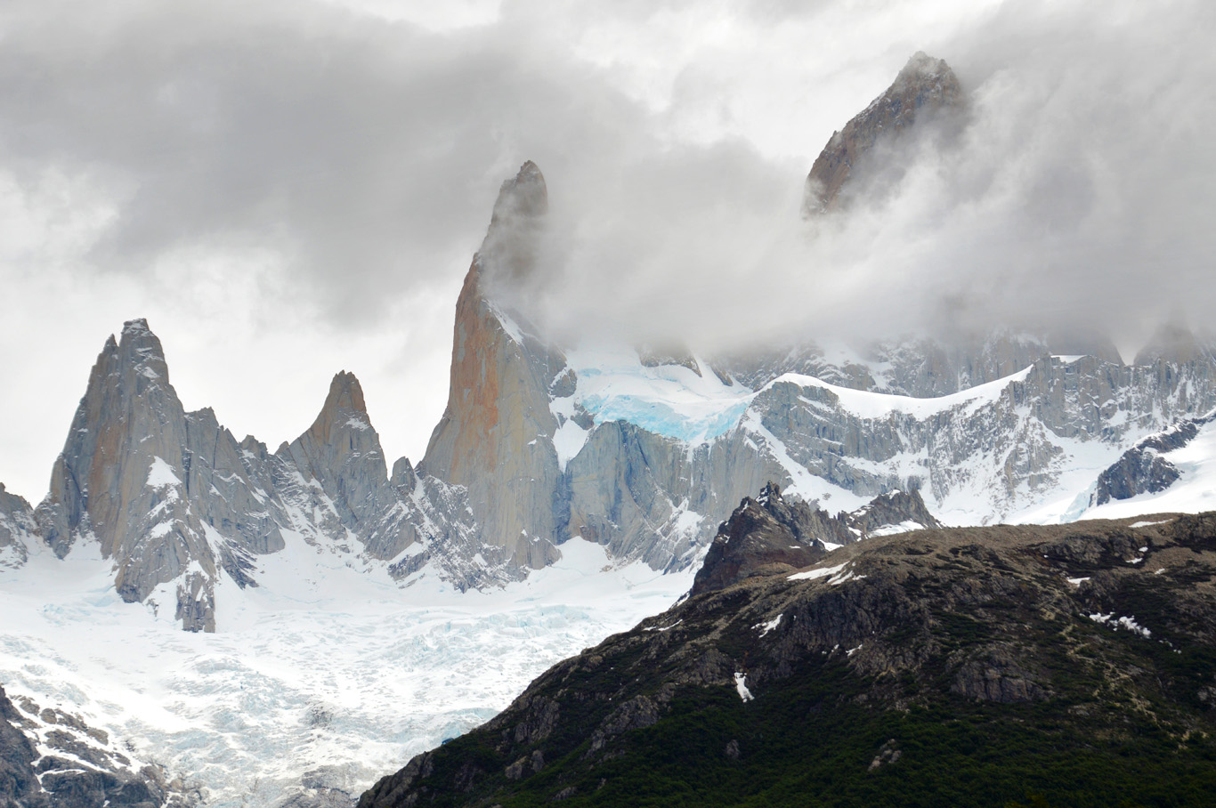 Fitz Roy seen from the trail