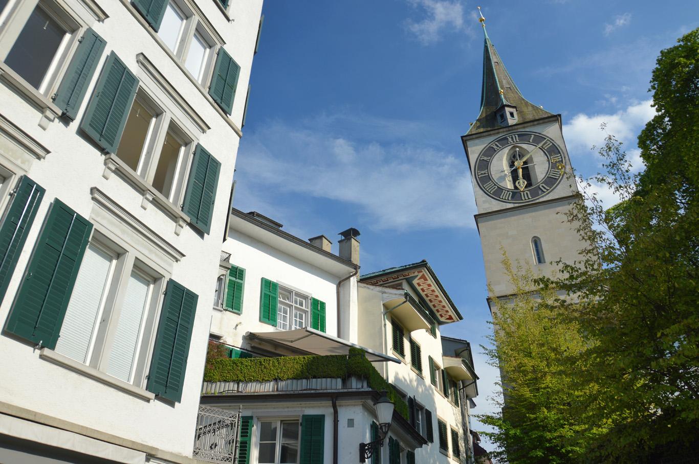 Zurich Old Town - St. Peter's Church