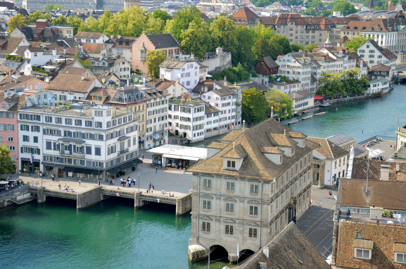 Zurich Old Town seen from the tower