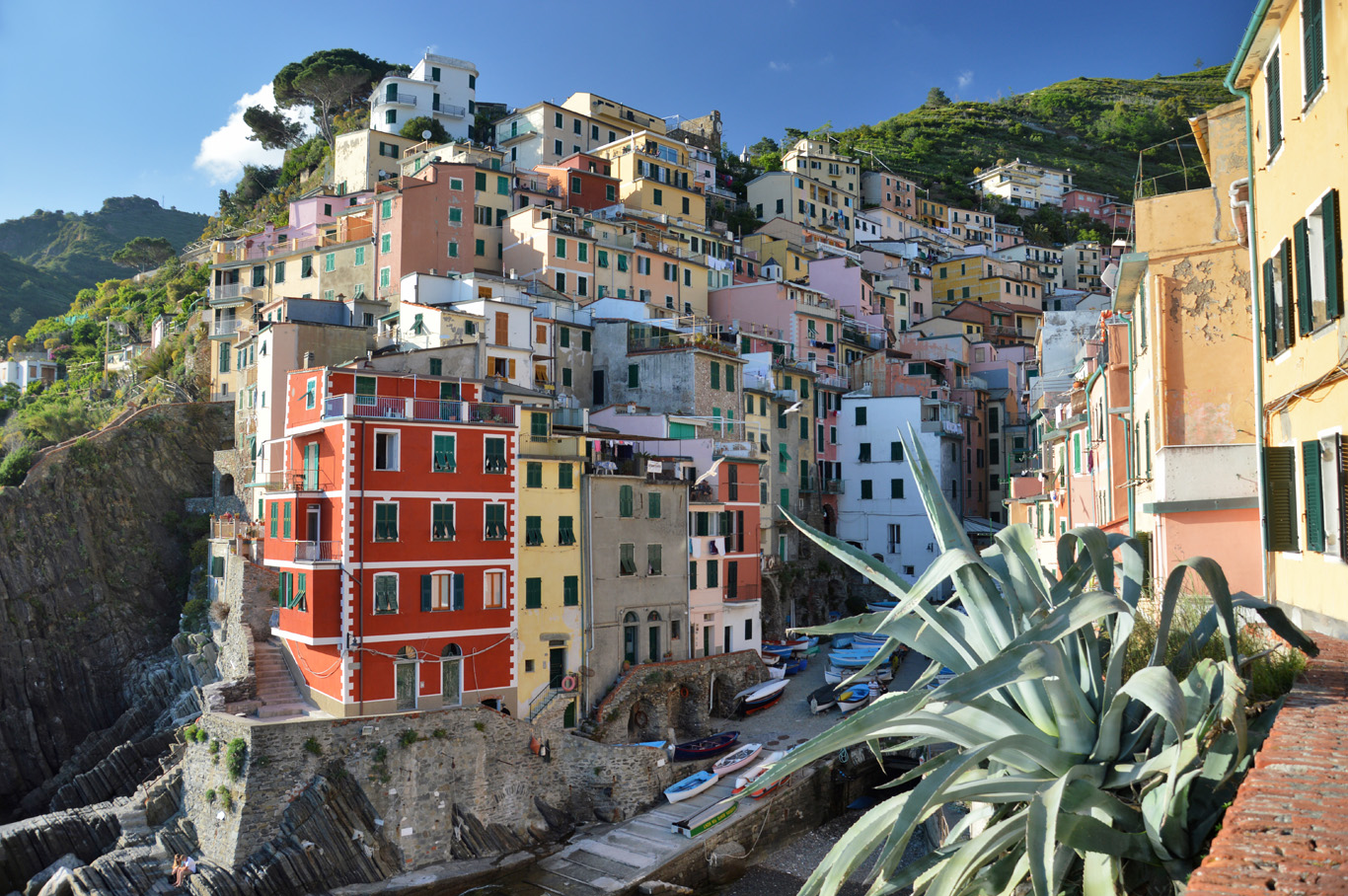 The first village of Cinque Terre - Rio Maggiore (number 2 on the map)