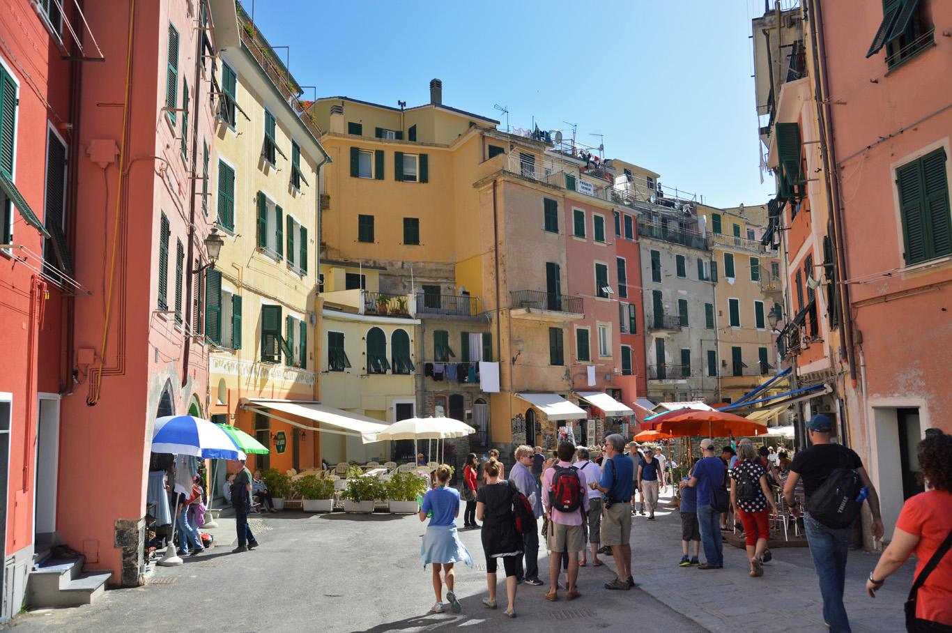 The town of Riomaggiore