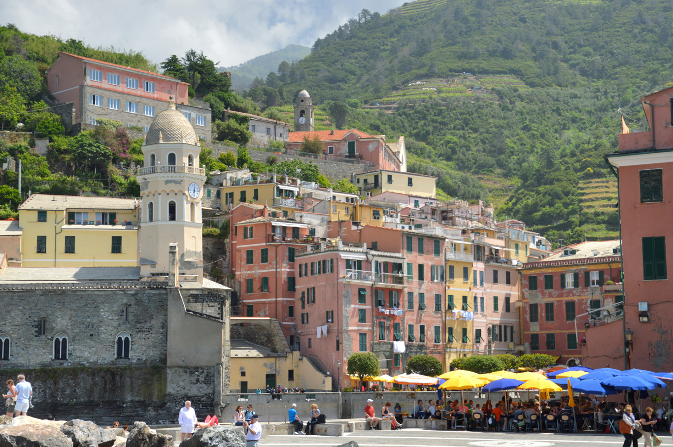 The fourth village - Vernazza seen from the boat (number 5 on the map)
