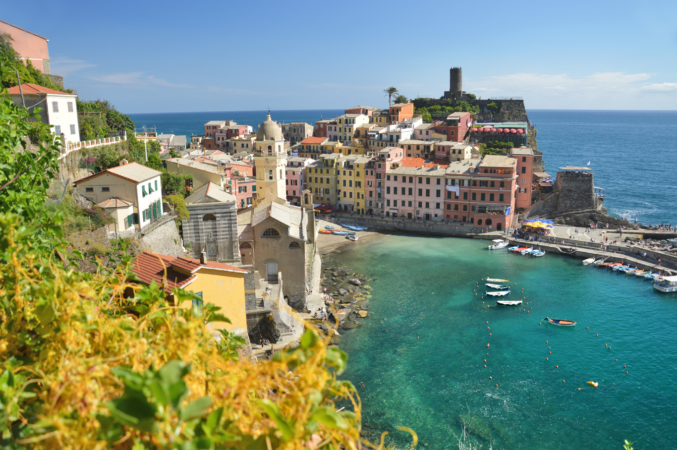 Vernazza seen from the trail