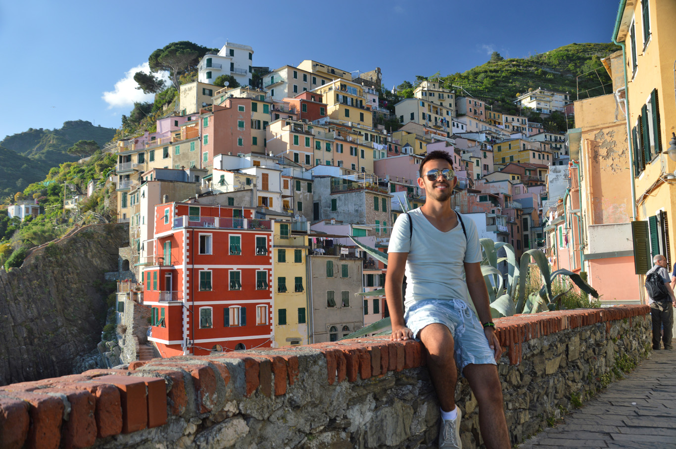 On the way back - in the first village - Riomaggiore