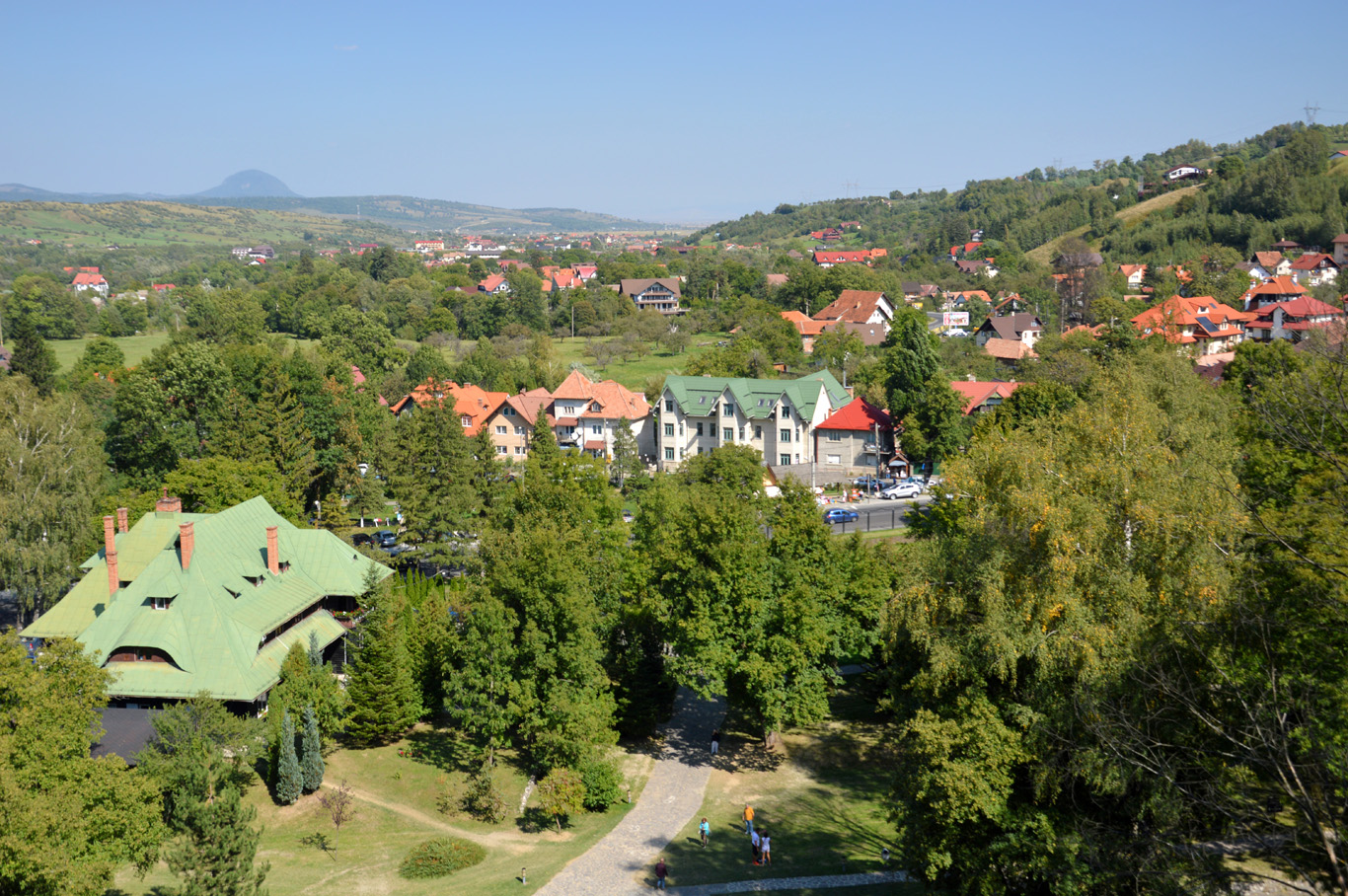 The village seen from the castle