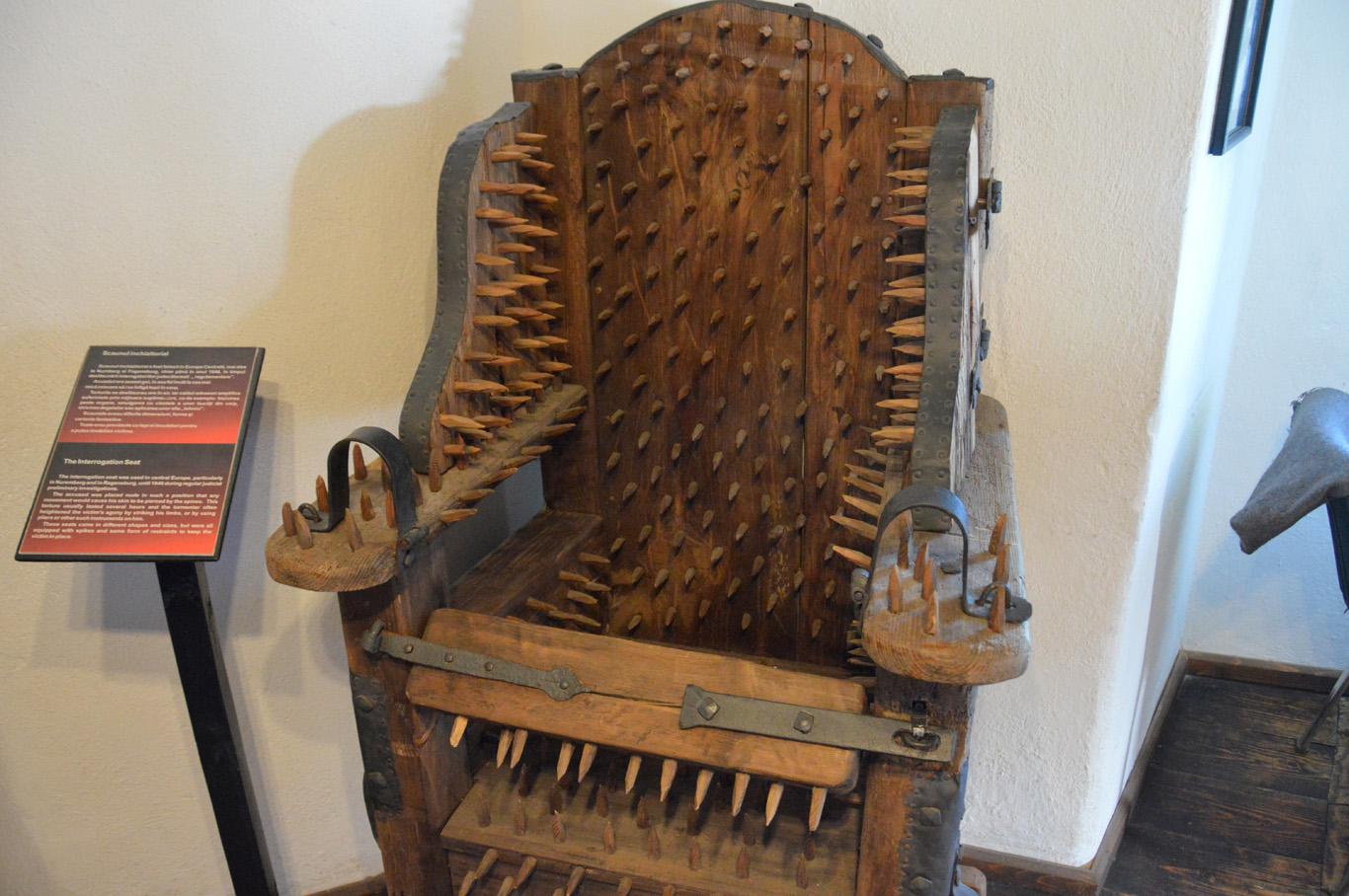 "Spike chair - ""interrogation seat"""