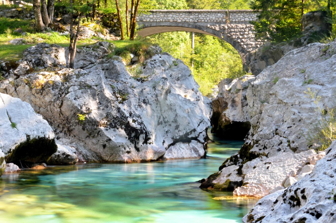 Stone Bridge over Soca River