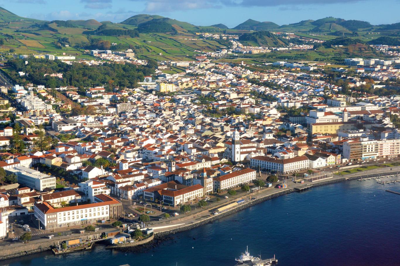 Ponta Delgada minutes before landing