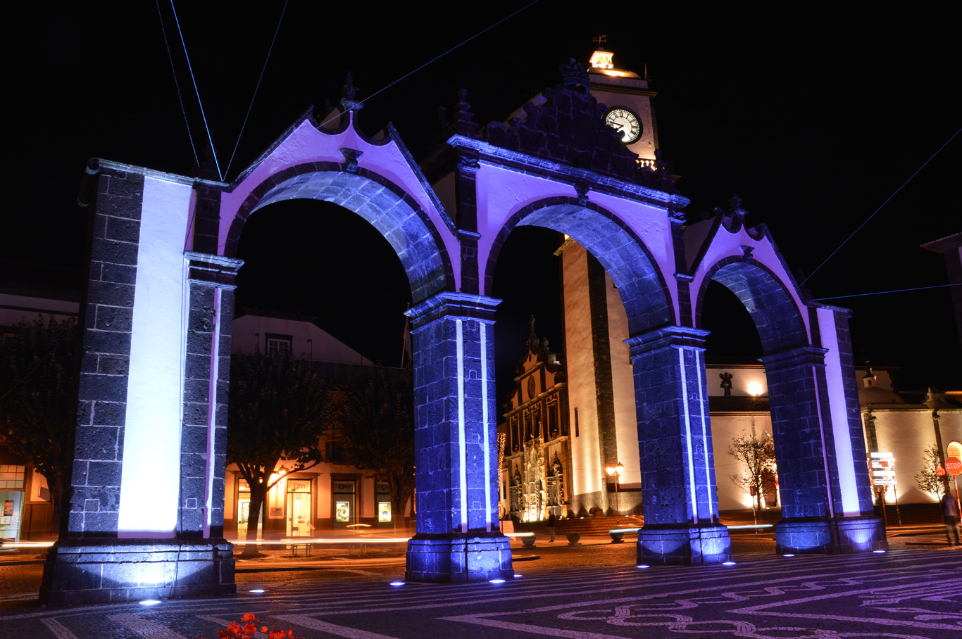 The City Gate at night