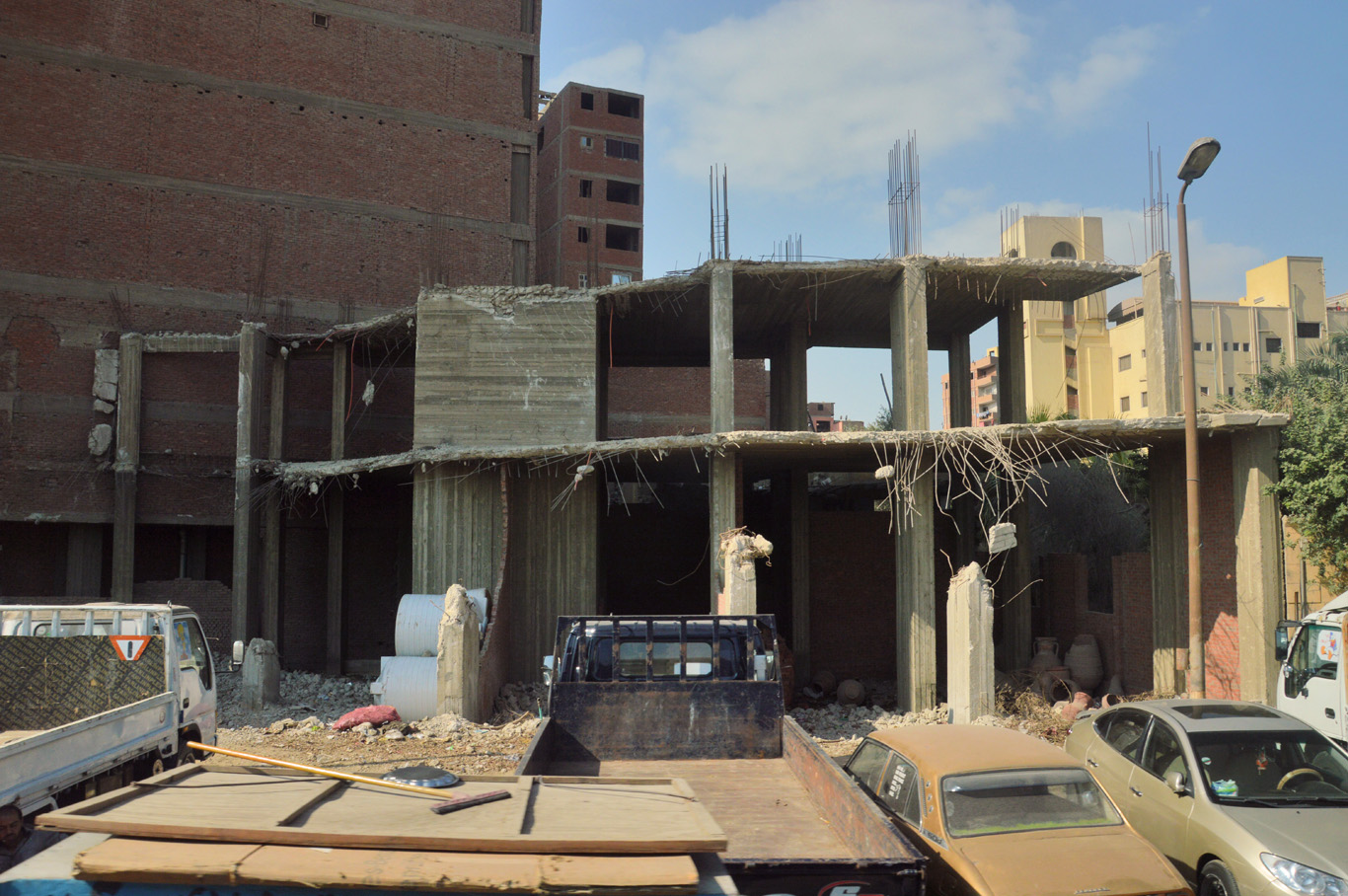 Unfinished buildings in Cairo